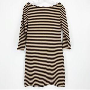 Xhilaration Striped 3/4 Sleeve Dress Medium